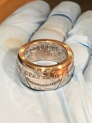 Handcrafted Morgan Silver Dollar Coin Ring Size 7-16 Wedding Band 90% Silver