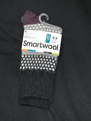 Smartwool Popcorn Cable Socks Women's Black Merino NEW Wool Small (Popcorn Cable Socks)