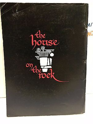 the house on the rock SOUVENIR BROCHURE PROGRAM USED 1982 RARE