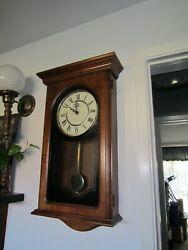 HOWARD MILLER WESTMINSTER CHIME PENDULUM CLOCK
