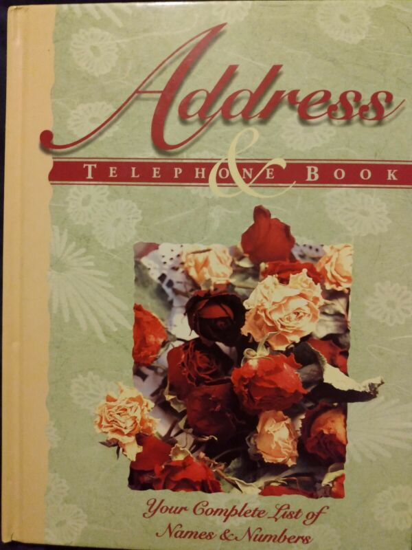 Address and Telephone Book Floral Blank Pages Large Book A-Z NEW Unused