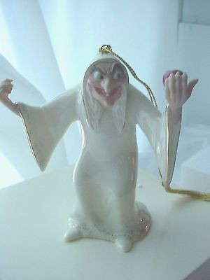 "Lenox ""TRY AN APPLE 'DEARIE"" Witch  from SNOW WHITE & SEVEN DWARFS Ornament"