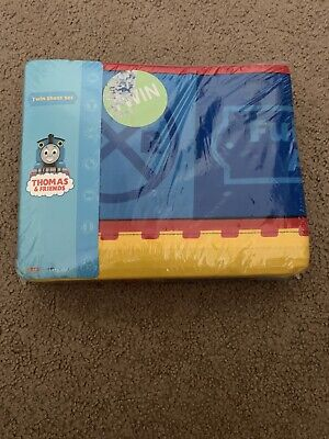 NEW Sealed Thomas the Tank Engine and Friends TWIN Sheet Set 3 Piece Blue
