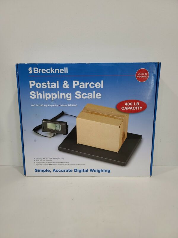 Brecknell BPS400 Portable Shipping Scale w/ Digital Display 400 LB Capacity NOB