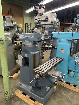 Bridgeport 1-12 Hp Br2j Vertical Turret Milling Machine-48 Table Vise