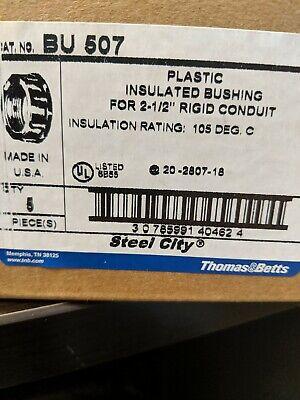 Steel City Bu 507 Plastic Insulated Bushing 2-12 Rigid Conduit Box Of 5