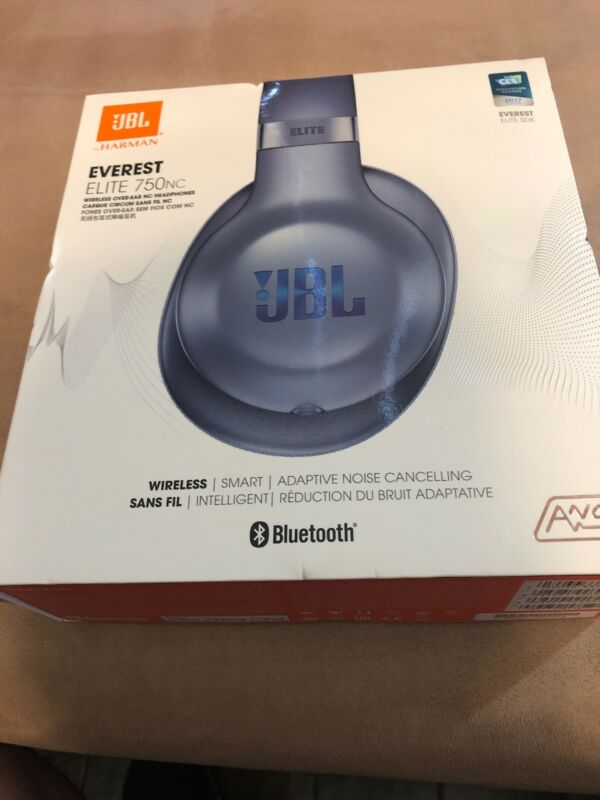 JBL Everest Elite 750NC Wireless Over-Ear Noise Cancelling Headphones Steel Blue JBLV750NXTBLU
