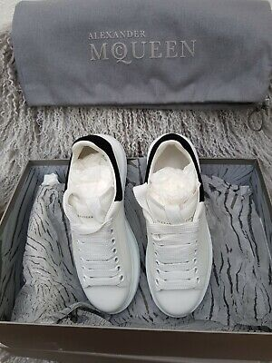 ALEXANDER MCQUEEN Suede-Trimmed leather exaggerated-sole Sneakers 36&1/2 IT New