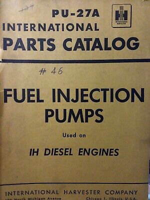 IH Diesel Tractor Fuel Injection Pump Parts Manual 9 18 14A MD 6 14 16 18A 24 TD