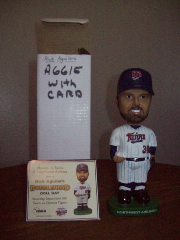 2008 Rick Aguilera Bobblehead 9/6/08 Stadium Give-Away w/ Card Minnesota Twins