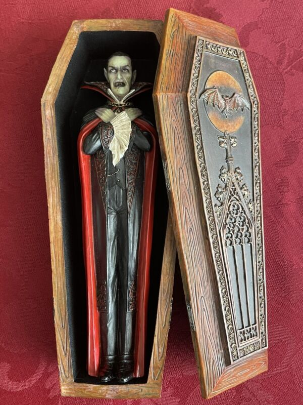 Veronese Design Resin Vampire Dracula Coffin Gothic Statue Figure Collectible
