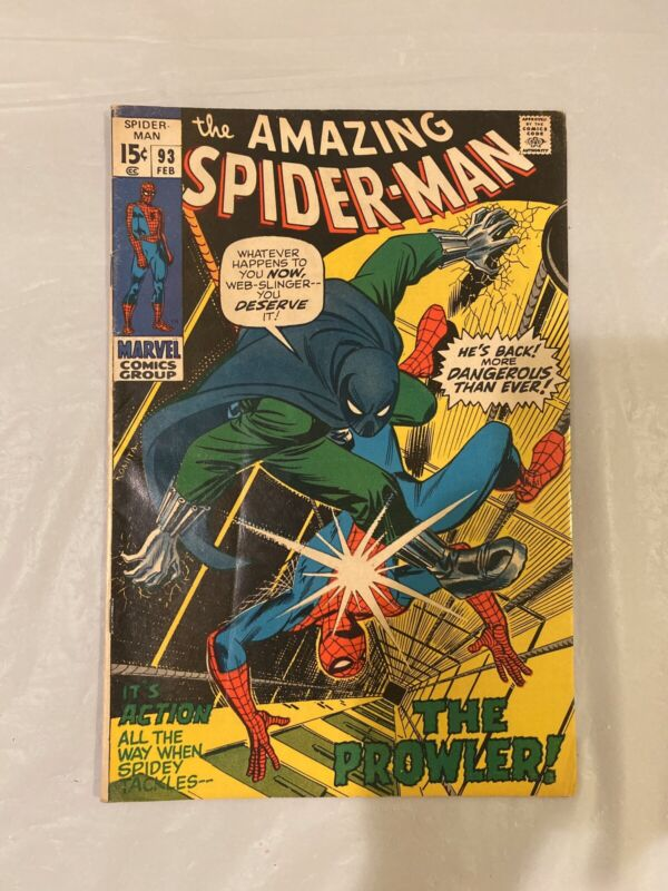 "AMAZING SPIDER-MAN #93 (February, 1971) ""THE PROWLER"" MARVEL"