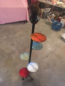 Funky metal plant stand