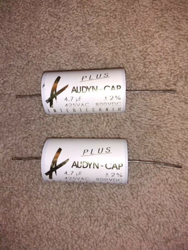 Pair Audyn Cap Plus 4.7uF 800V Double Layer MKP Foil Capacitors