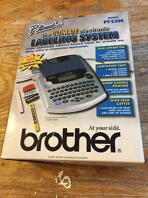 New Brother P-touch Model Pt-2300 Electronic Labeling System Machine Unused Mint
