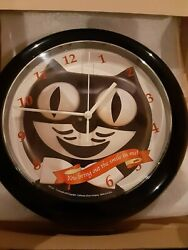 KIT-CAT WALL (12 ROUND) CLOCK - MADE IN THE U.S. A.