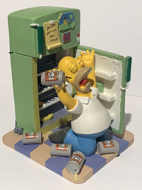 "The Simpsons ""Oh Cruel Fate"" Sculpture 2003 Hamilton Collection Homer Figurine"
