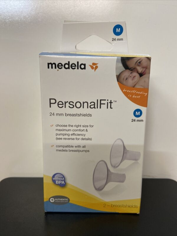 Medela PersonalFit 24 mm Medium Breastshields 2 Breast Shields 87073 NEW