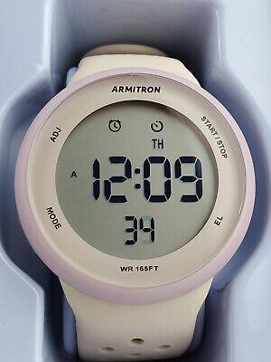 Armitron Sport Unisex 40/8423LBH Digital Chronograph Silicone Strap Watch Pink