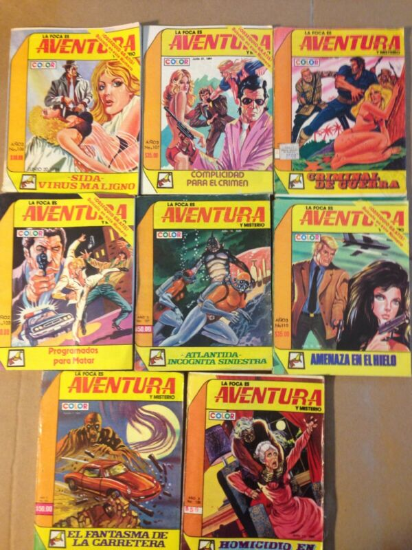 La Foca Es Aventura Y Misterio Mexican Comics In Color, Spanish, Lot Of 8