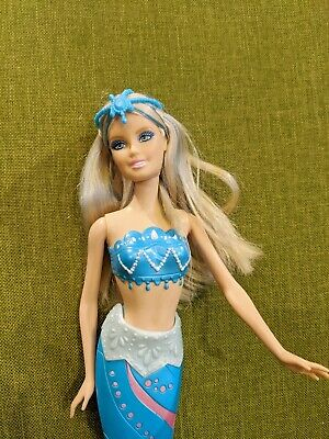Barbie A Mermaid Tale 2 Arctic Blue Mermaid Doll - Color Change Tail EUC