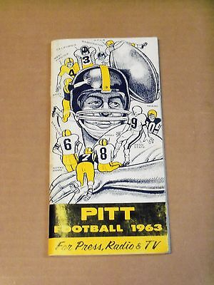 1963 Pitt Panthers  Football Media Guide  Complete