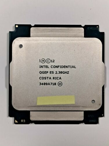 Intel Xeon QGEP ES, E5-2699 V3. 18 core, 36 thread. Tested