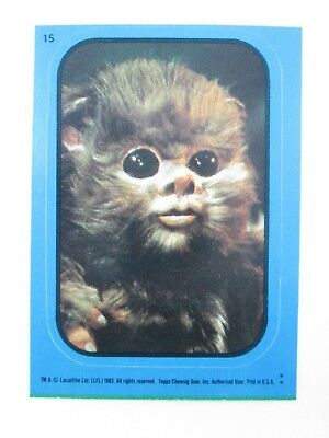 1983 STAR WARS Return of the Jedi Sticker #15 Baby Ewok - NM/MINT
