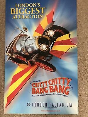 CHITTY CHITTY BANG BANG The Musical Original Theatre Poster LONDON PALLADIUM