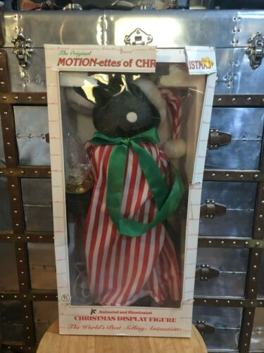 "TELCO 24"" RARE Lighted ANIMATED MOTION-ETTES Christmas MOUSE With Box"