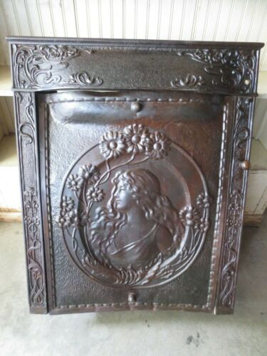 Antique Art Nouveau Fire Place Insert