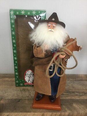 "Santa's Workshop Cowboy Western Santa Claus Figure Statue Doll 19"" - Cowboy Santa Claus"