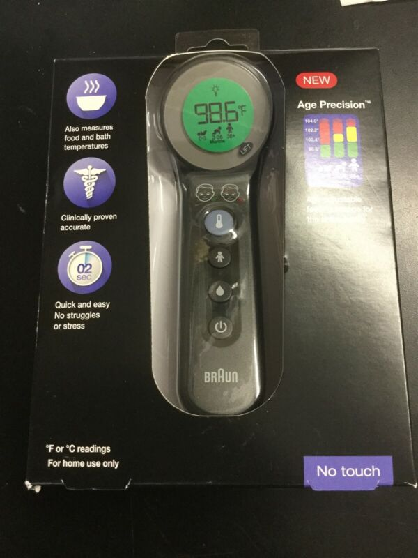 Braun 3-in-1 No Touch Thermometer BNT400 Age Precision #1631