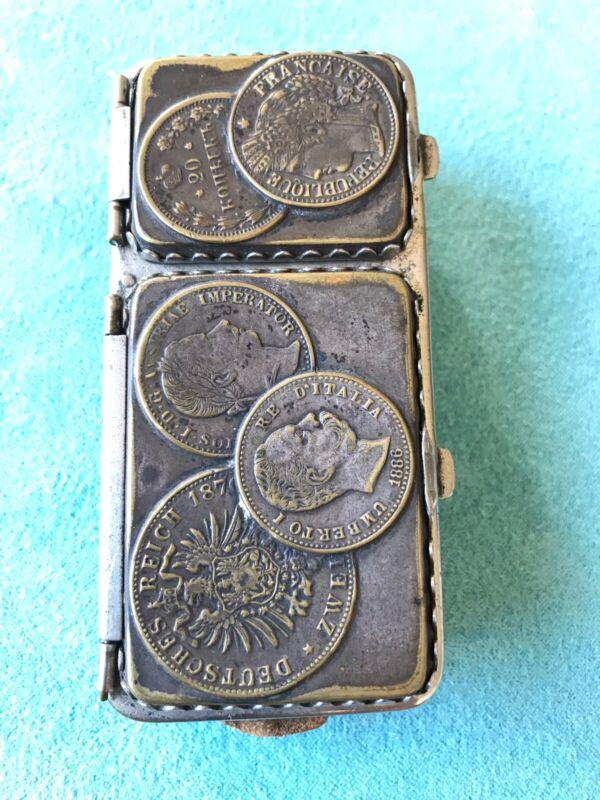 Antique 1886 Victorian Coin Bag