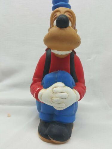 "GOOFY Sitting Ceramic Figure 9"" Vintage Walt Disney  Hand Painted Red AED81"