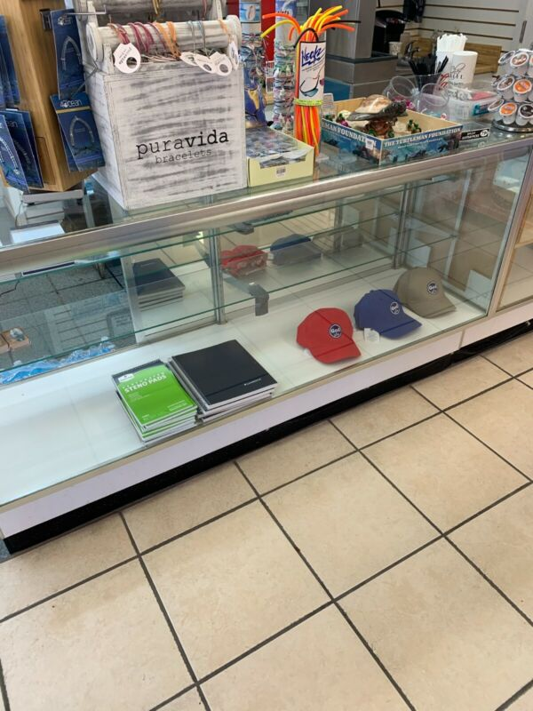 "RETAIL GLASS DISPLAY CASE FULL VISION 70"" with lights SHOWCASE"