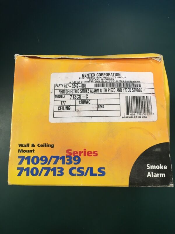 Gentex 713CS-C Photoelectric Smoke Alarm with Horn/Strobe