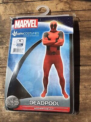 Marvel Deadpool Morphsuit Size XL, Full Fancy Dress Deadpool Costume