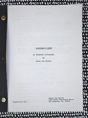 """Unproduced SCREENPLAY """"YESTERDAY'S THIEF"""" by BARRY IRA GELLER circa 1975"""
