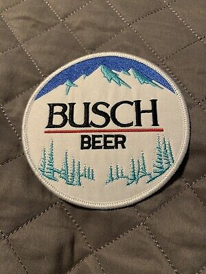 Busch Beer Vintage Style Retro Iron Sew One Patch Cap Hat