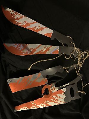 Halloween spooky blood knife axe chain garland bunting banner decoration