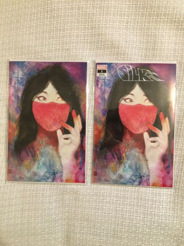 Silk #1 Black Cape Comic Exclusive By Zu Orzu- Trade/Virgin Set
