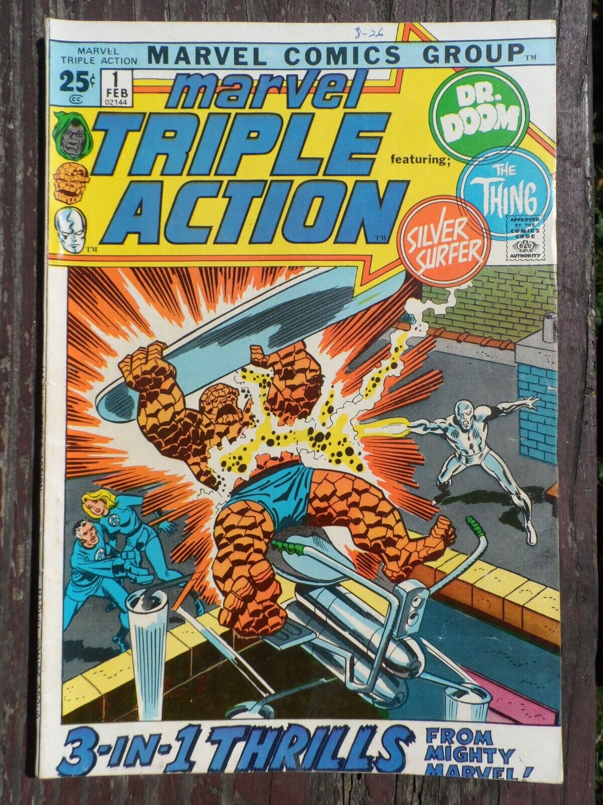 Marvel Triple Action 1 SILVER SURFER Thing Dr. Doom Comic Book Nice Copy - $4.00