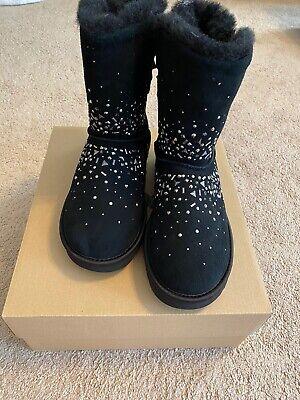 UGG Women's CLASSIC GALAXY BLING SHORT Boots Black US 8, EU 39