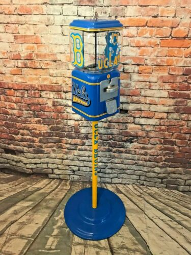 UCLA Bruins inspired vintage glass Acorn gumball man cave unique  penny machine