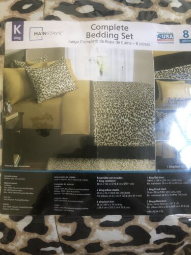 New Cheetah Queen Size Comforter Set Bedding Bedspread With Sheets Bed In a Bag