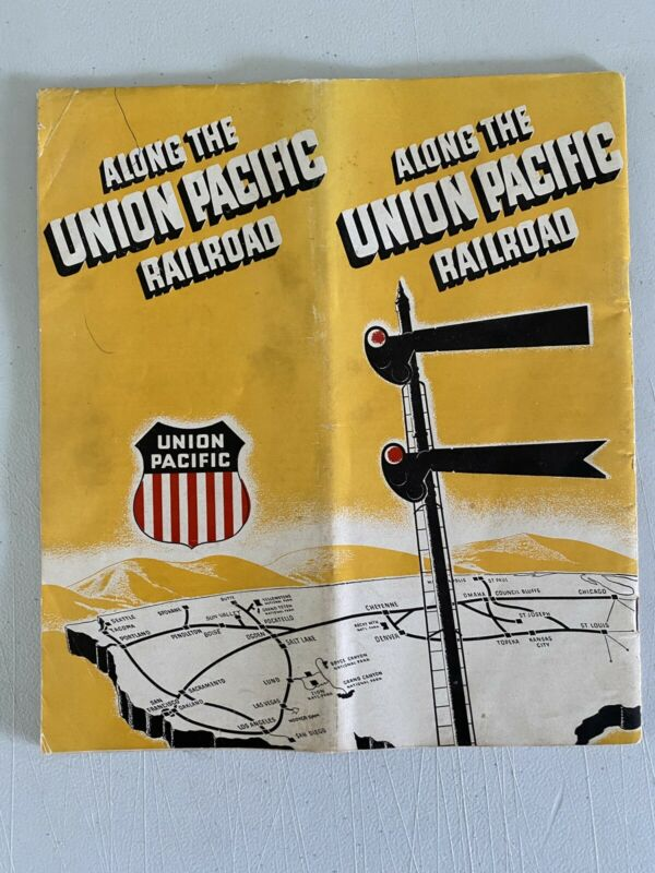 1940's Along the Union Pacific Rail Road Travel Brochure