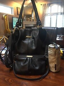 Timi & Leslie Black leather diaper bag!