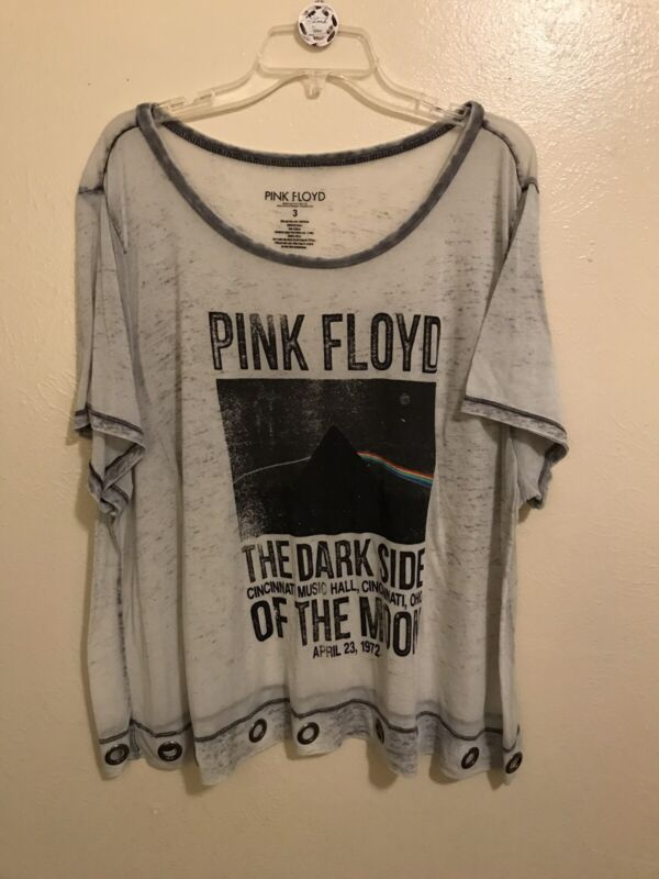 Pink floyd Womens Shirt With Silver Rings Size 3X