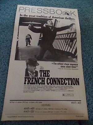 THE FRENCH CONNECTION(1971)GENE HACKMAN ORIGINAL PRESSBOOK